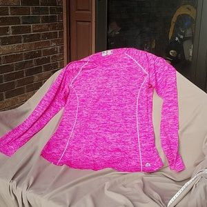 RBX fuchsia pink long sleeve running xdri shirt